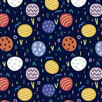 Motif coloré avec des formes abstraites