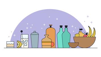 Préparer des cocktails vectoriels