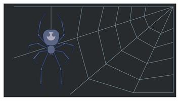 Vecteur web araignée