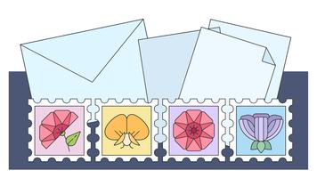 Vecteur de la collection de timbres
