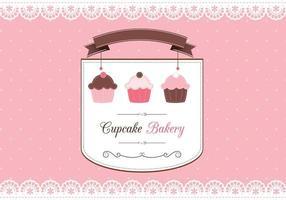 Petit vecteur de carte de scrapbook de cupcake