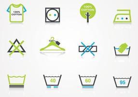 Vecteur d'icônes pour la lessive