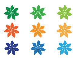 Signe de la fleur pour le bien-être, spa et yoga. Illustration vectorielle vecteur