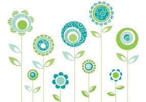 Vecteurs de fleurs à motifs rétro vecteur