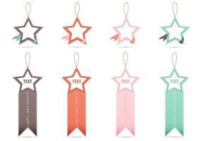 Bannières de balises étoiles vecteur