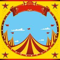 Sticker carré belle journée de cirque vecteur