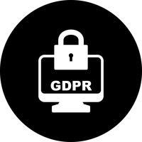 Icône d'écran de verrouillage de sécurité GDPR Vector