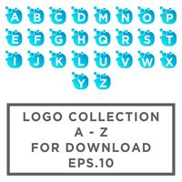 Lettre set az Bubble logo modèle ou icône illustration vectorielle