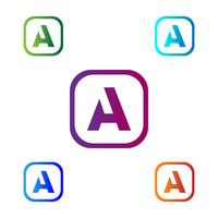 Lettre A Abstract illustration vectorielle logo créatif modèle