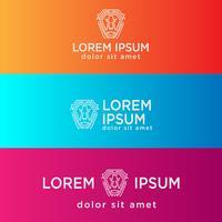 Illustration vectorielle de Lion tech logo créatif modèle