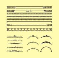Vecteurs de bordure vintage décoratifs vecteur