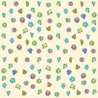 pierre, diamant, gem logo modèle, éléments isolés icône vecteur