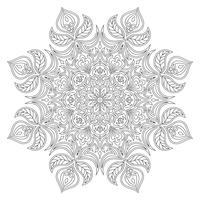 Vecteur mandala. Élément décoratif oriental. Motifs islamiques, arabes, indiens, turcs, pakistanais, chinois, ottomans. Éléments de design ethnique. Mandala dessiné à la main. Mandala de contour monochrome pour la coloration.