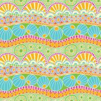Modèle abstrait coloré doodle. Modèle sans couture de doodle dessiné main pour textile vecteur