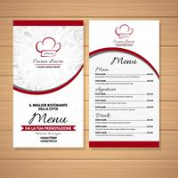 Le menu du restaurant vecteur