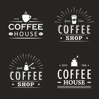 Ensemble de modèles de logo de café vintage, insignes et éléments de conception. Collection de logotypes pour café, café, restaurant. Illustration vectorielle Style hipster et rétro. vecteur