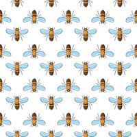 Modèle sans couture de vecteur abeille pour la conception textile, papier peint, papier d'emballage