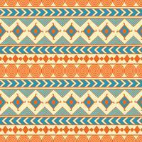 Modèle tribal vectorielle continue. Ethnique abstrait géométrique. Ornement de récolte en style ethnique pour le papier peint, le papier d'emballage, le scrapbooking ou le dessin textile