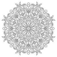 Symbole de mandala ethnique pour cahier de coloriage. Modèle de traitement anti-stress. vecteur