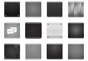 Ensemble de vecteur de fond d'applications noir et gris