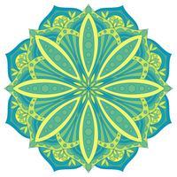 Élément de design décoratif ethnique. Symbole de mandala de vecteur coloré. Ornement floral abstrait rond.