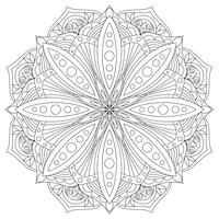Vecteur mandala. Élément de décoration oriental dessiné à la main. Élément de design ethnique.