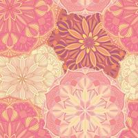 Modèle vectorielle continue avec les symboles du mandala. Ornement décoratif ethnique.