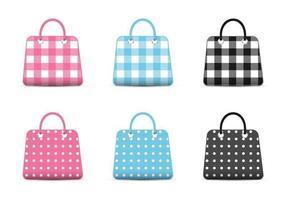 Vecteur d'icônes de sac de mode girly