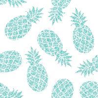 Modèle sans couture de vecteur ananas pour textile