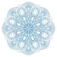 Symbole de mandala ethnique pour cahier de coloriage. Modèle de traitement anti-stress. Vecteur abs