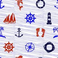 Scribble des éléments nautiques.