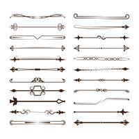 Collection de diviseurs de vecteur. Peut être utilisé pour la conception, les lettres, les bijoux, les cadeaux, les cahiers