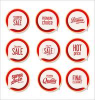 Collection de stickers, étiquettes badges modernes vecteur