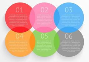 Circulaire Options Template Vector