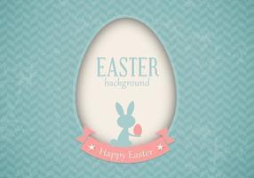 Vecteur de carte de Pâques rétro