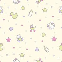 Modèle sans couture de jouets bébé. Peut être utilisé pour les textiles, le papier et autres motifs.