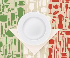 Conception de menu et d'affiche de restaurant italien vecteur