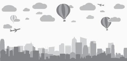 fond de ville pour la publicité des services immobiliers vecteur