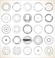 Collection rétro de timbres en caoutchouc grunge vide vecteur