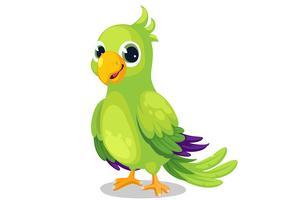 Vecteur de dessin animé perroquet