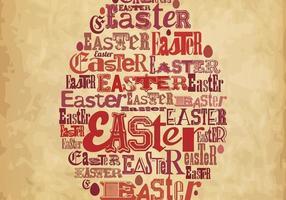 Vecteur affiche de Pâques
