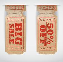 Ticket de vente vintage vecteur