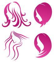 icone de la mode. symbole de la beauté féminine vecteur