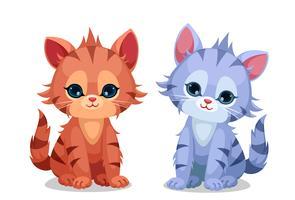 Petits chatons mignons vecteur