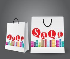 Conception de vente avec des sacs