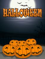fond d'halloween avec des citrouilles effrayants