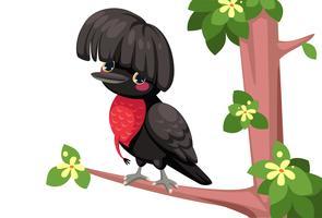 Caricature d'oiseau parapluie vecteur