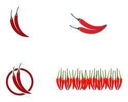 Logo de modèle vectoriel de piment et symbole