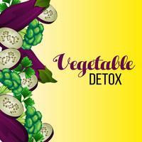 bordure de désintoxication végétale vecteur
