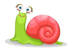 Dessin animé mignon d'escargot